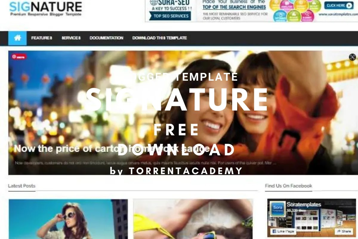 Signature blogger template home page