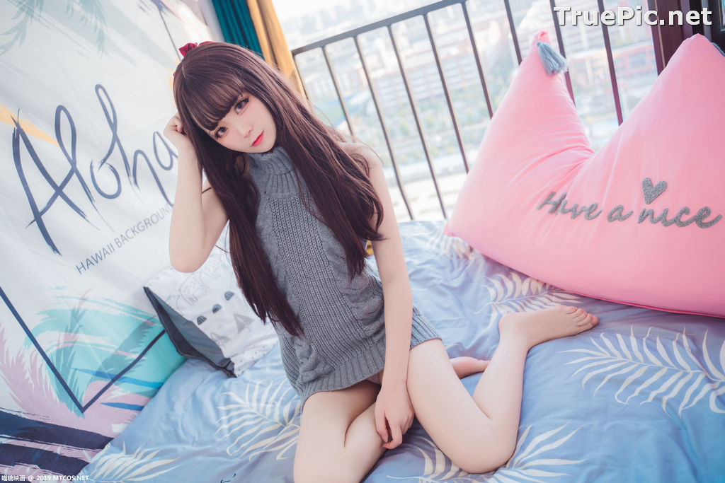 Image [MTCos] 喵糖映画 Vol.030 – Chinese Cute Model – Open Back Sweater - TruePic.net - Picture-14