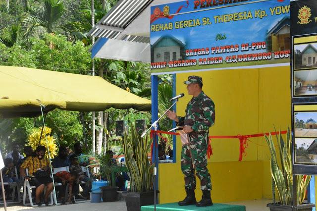 Izak Pangemanan Resmikan Perehaban Gereja St Theresia Yowong, Keerom