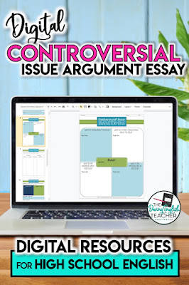 Digital Controversial Issue Argument Essay for High School Englsih