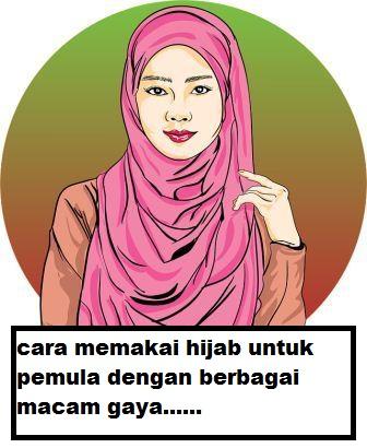 cara memakai jilbab kekinian untuk pemula