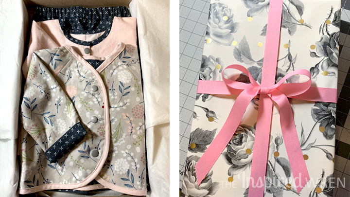 Sewing baby clothes with the perfect pattern plus fabric plus wearer.   Lullaby Layette from Oliver + S   The Inspired Wren