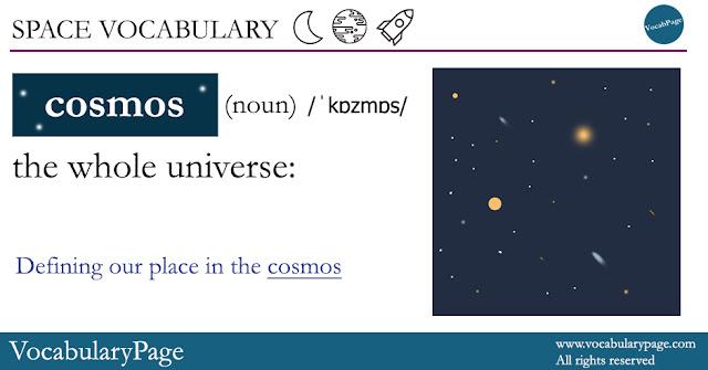 Space Vocabulary - Cosmos