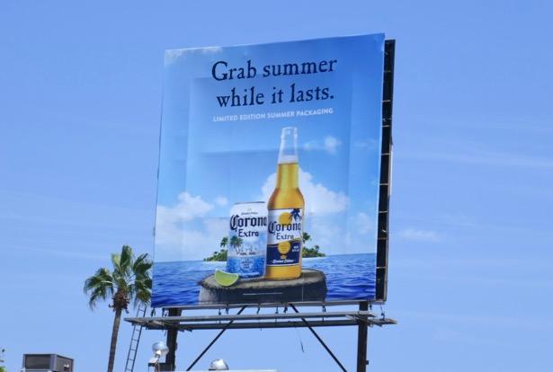Grab summer while lasts Corona packaging billboard