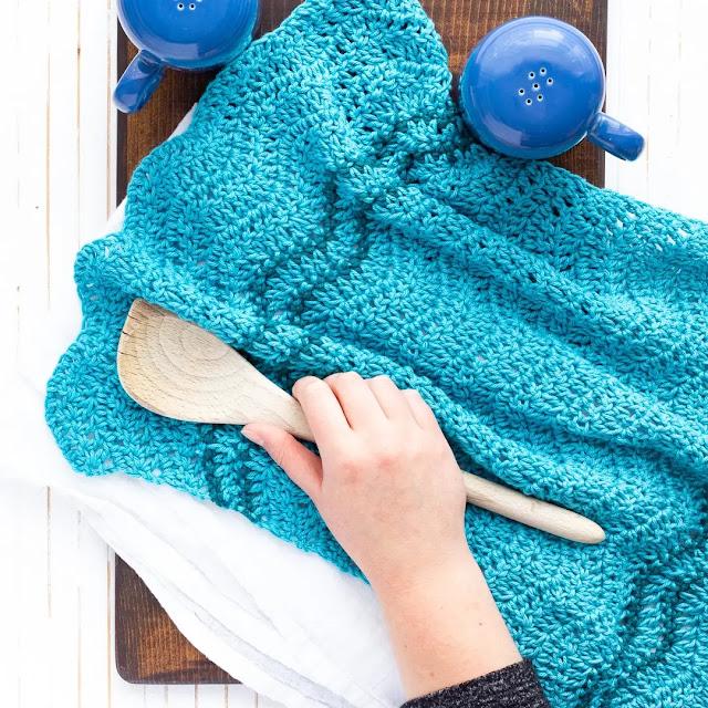 Hermosa Toalla Sencilla Tejido a Crochet