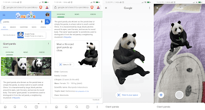 What are Google Search 3D AR Animals