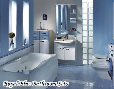 Navy Royal Blue Bathroom Sets