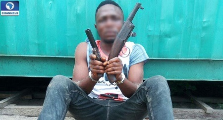 See Photos Of Deadly Kidnappers Nabbed with Dangerous Weapons In the Niger Delta