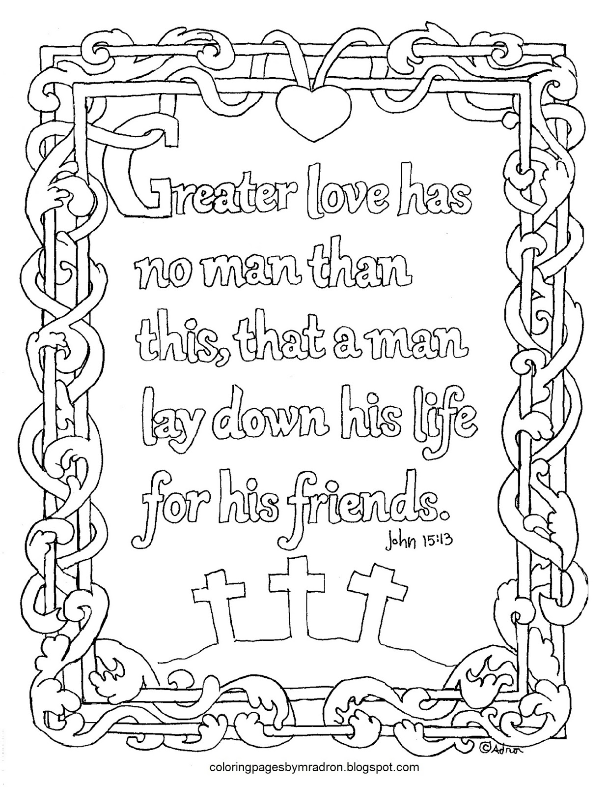 Printable John 1513 Coloring Page Like An Illuminated Text