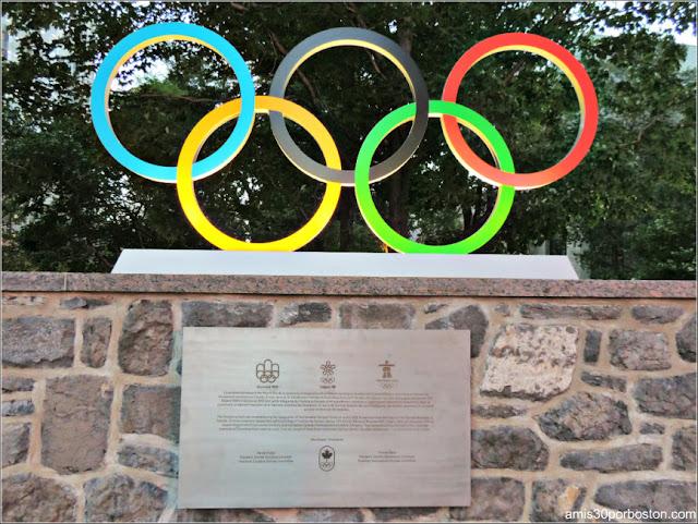 Anillos Olímpicos en Montreal
