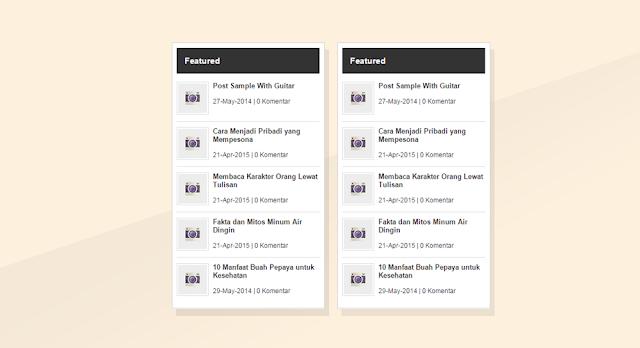 Cara Memasang Widget Recent Post Berdasarkan Tag Kategori