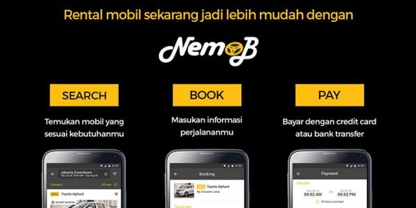 Aplikasi Rental Mobil Murah Terpercaya nemob