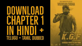 KGF Chapter: 1 Download In Hindi Dubbed by Filmyzilla 2019
