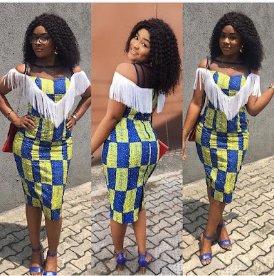 Adorable And Creative Ankara Dresses Embellished with Fringe Material