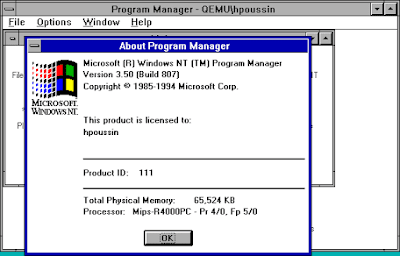 Windows NT 3.5 Screen