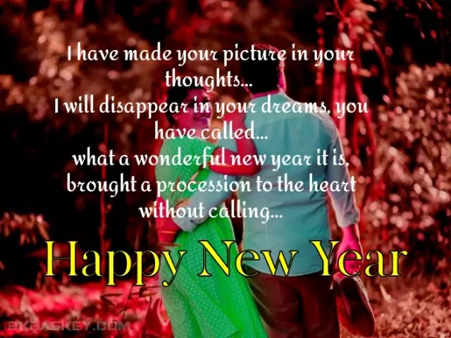 Romantic Happy New Year Wishes Shayari in English | Romantic New Year Love Shayari Status For Girlfriend