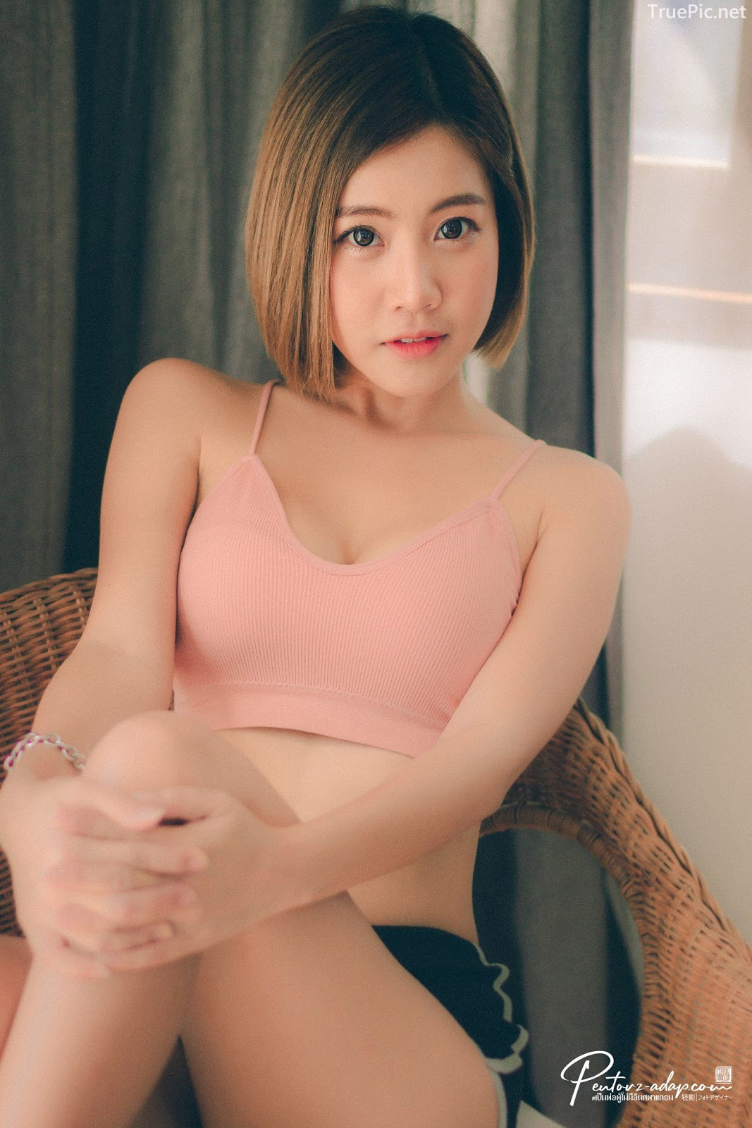Thailand Cute Model - Fah Chatchaya Suthisuwan - Pink Lovely Fitness Sports Bra - TruePic.net - Picture 6