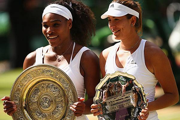 Serena Williams and Garbin Mugurusa