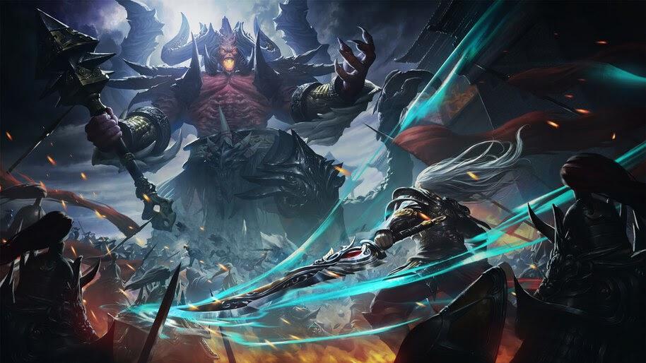Fantasy, Monster, Epic, Battle, 4K, #4.983