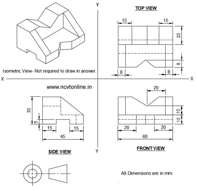 3rd angle projection drawing