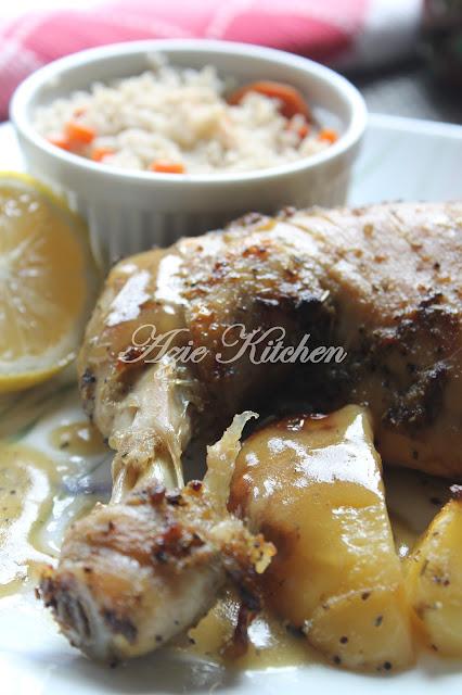 Nasi Karot dan Rosemary Grilled Chicken