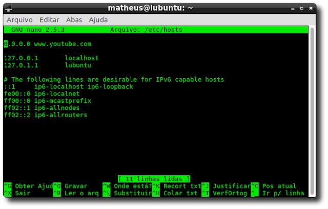 Como bloquear sites no Ubuntu e derivados