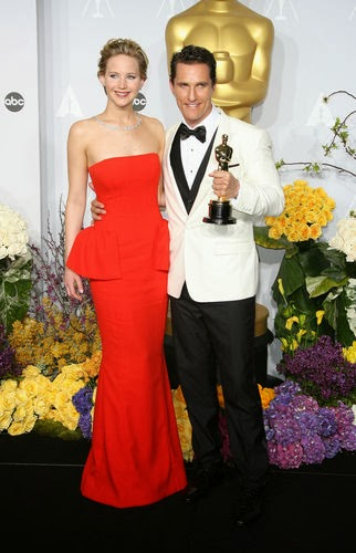 Oscar 2014 Matthew McConaughey and Jennifer Lawrence