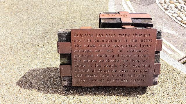 Public art on Quay Side in Norwich