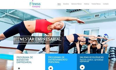 Sitio web negocio saludable