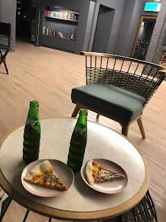 ピザとジュース