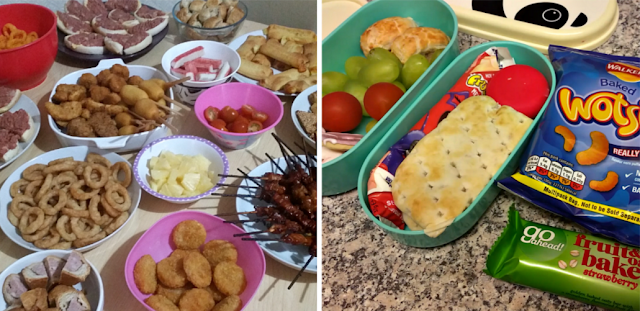 Party food and a packed lunch for my youngest
