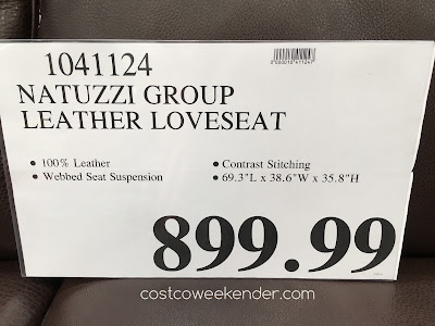 Deal for the Natuzzi Group Leather Loveseat at Costco