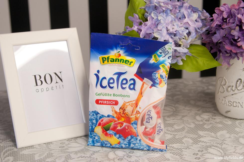 Pfanner - iceTea Pfirsich - Gefüllte Bonbons