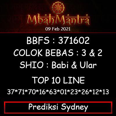 Prediksi Angka Sydney 09 Februari 2021