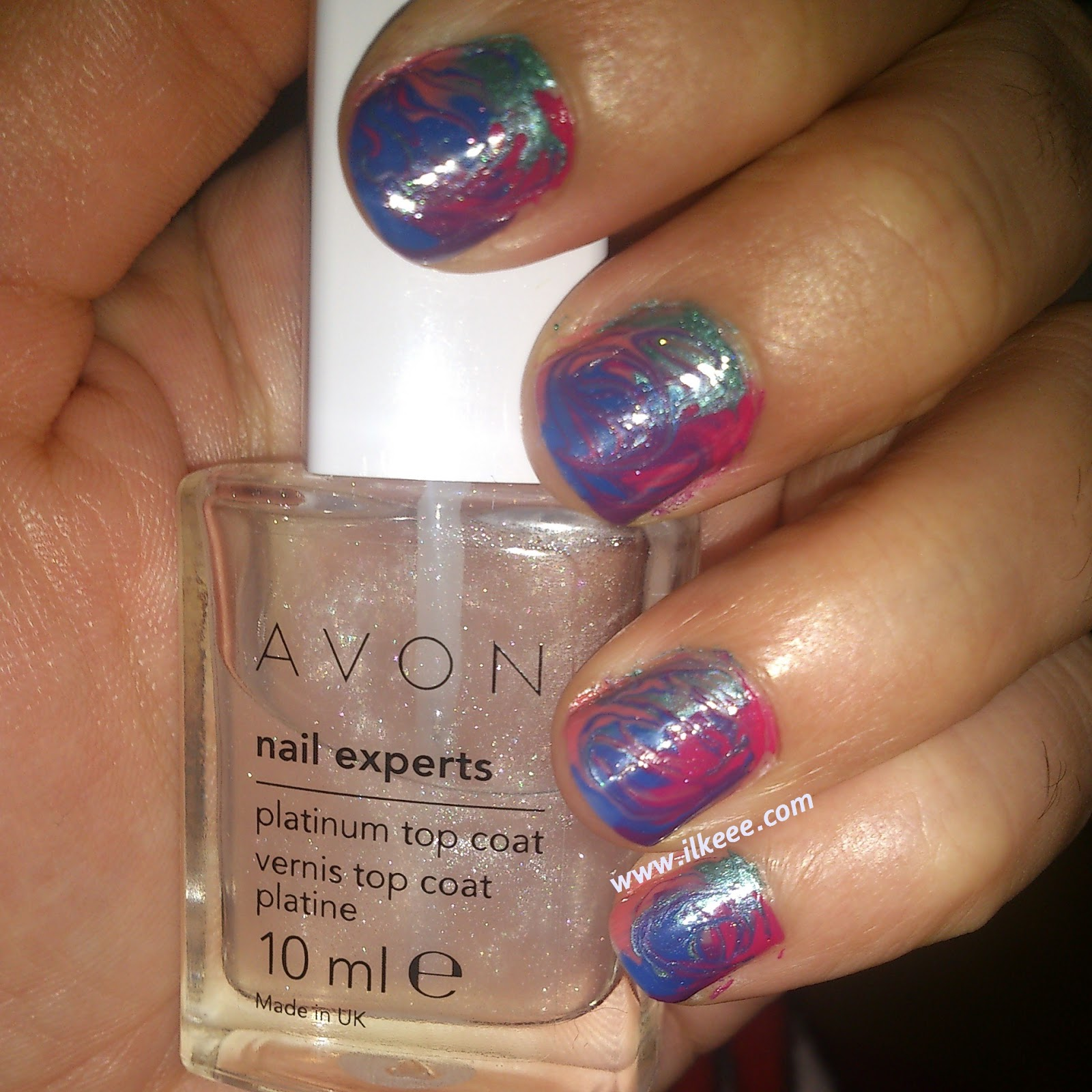 Kolay nailart çalışmaları - Avon Nail enamel - Avon Plantinum top coat
