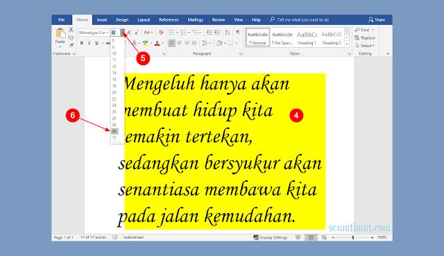cara membuat tulisan di gambar ms word