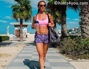 By walking or running, you can easily burn many calories day by day.