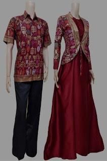 Gamis Batik Kombinasi Dewasa