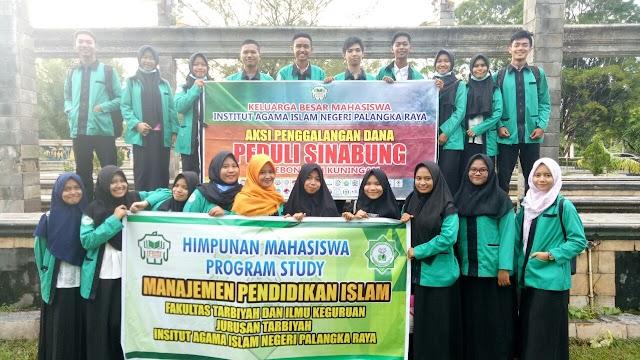Aksi Galang Dana Peduli Sinabung Mahasiswa Prodi MPI FTIK IAIN Palangka Raya