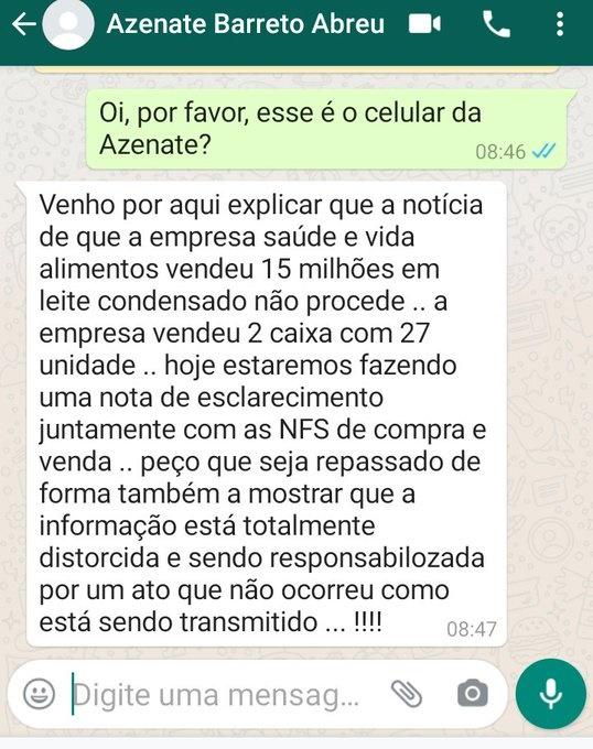 www.seuguara.com.br/empresa/leite condensado/Twitter/governo Bolsonaro/