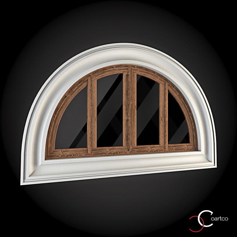Ornamente Geamuri Exterior, fatade case cu profile decorative polistiren, profile fatada,  Model Cod: WIN-074