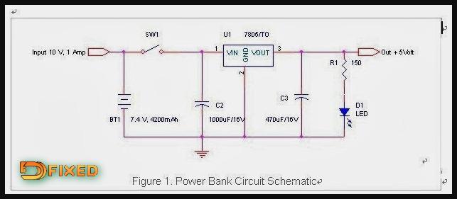 skema rangkaian power bank sederhana
