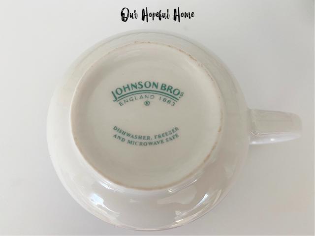 Johnson Bros. England 1883 makers mark