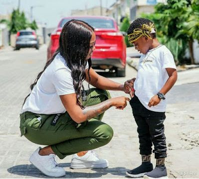 Tiwa Savage and Son
