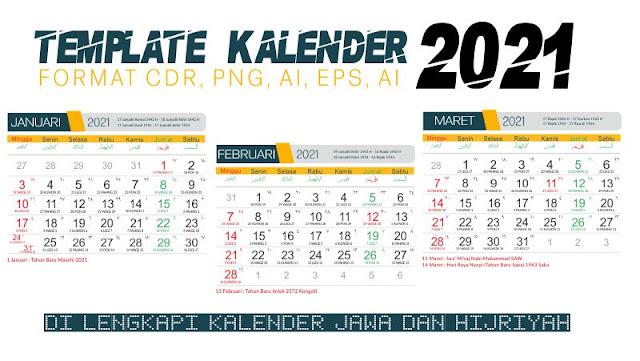 Template Kalender 2021 CDR