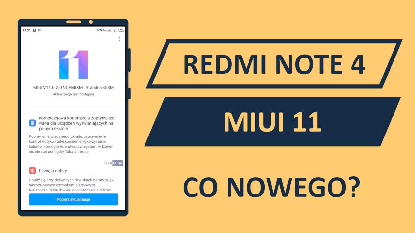 Xiaomi Redmi Note 4 MIUI 11 Aktualizacja
