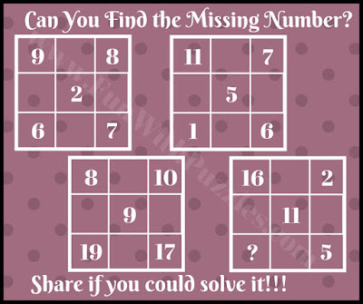 Simple math mind teaser picture puzzle