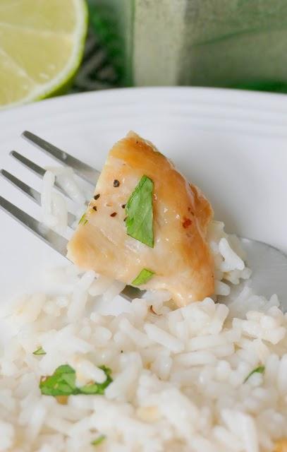 Chicken piece with cilantro