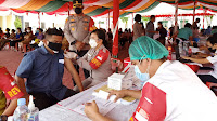 Polres Samosir Tuntaskan Vaksinasi Astra Zeneca Dosis Kedua