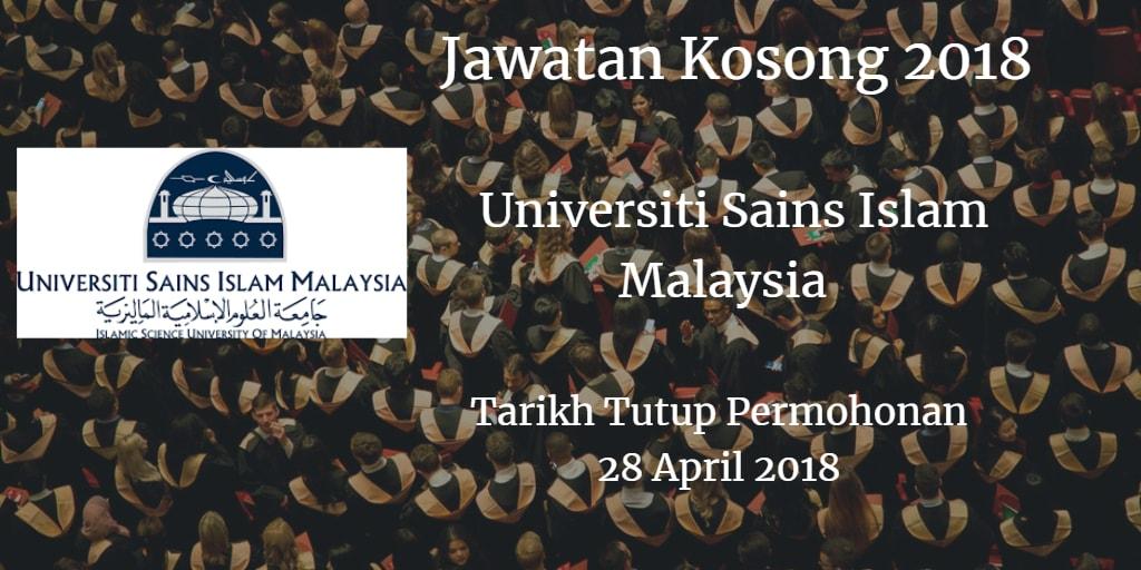 Jawatan Kosong USIM 28 April 2018